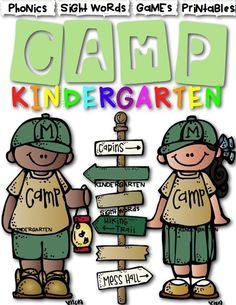 Camp Kindergarten Math Literacy Centers For A Classroom