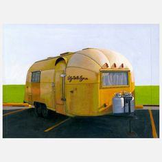 Airstream Gold Archival Print now featured on Fab.