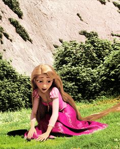Imagine Rapunzel singing for the first time in forever!