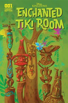 Disneyland Enchanted Tiki Room Comic Cover Art Decoupaged on Wood Tiki Hawaii, Hawaiian Tiki, Vintage Hawaiian, Tiki Art, Tiki Tiki, Tiki Bar Decor, Tiki Lounge, Vintage Tiki, Photo Mural