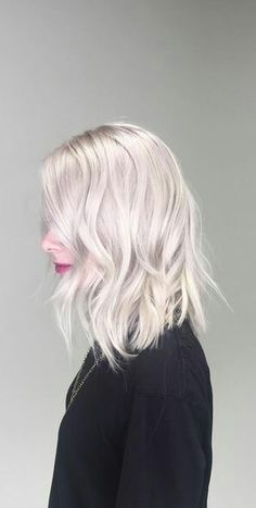 Ice Cold Blonde ,As platinum white as blonde can get. Hair Color, Hair Styles, Hair Stylists, balayage, beauty, blonde, hair, hairstyles, highlights, PLATINUM