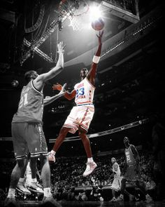 This iconic photo art piece captures Michael Jordan in the 2003 NBA All-Star Game, the last of his legendary career.