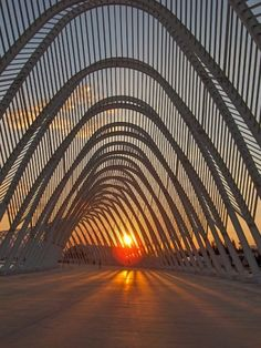 The Olympic Agora, designed by Santiago Calatrava, in Athens. Another wonderful Calatrava art form.