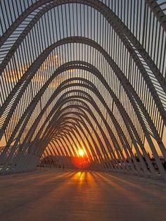 The Olympic Agora, designed by Santiago Calatrava, in Athens