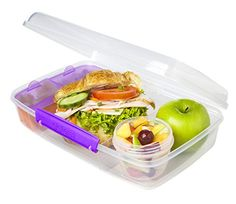 Sistema Bento Lunch Box to Go, Purple by Online Kitchenware Bento Box Lunch, Lunch Snacks, Lunch Boxes, Snack Bags, Lunch Items, Travel Snacks, Work Meals, Lunch Containers, Prepped Lunches