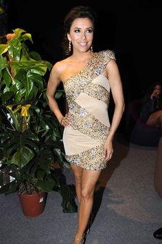 Eva Longoria at a Cannes after party - celebrities in Elie Saab dress