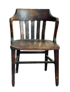 Antique Bankers Chair Antique Oak Office, Jury, Court, Vintage Office Chair,  Library