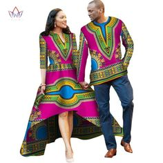 African Couple Clothes Lovers Dress Vestidos Men Shirt Traditional Dresses African Print Dashiki Plus Size Brw African Fashion Designers, African Men Fashion, Africa Fashion, African Dresses For Women, African Attire, African Outfits, Nigerian Outfits, Nigerian Clothing, Lover Dress
