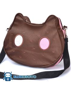 geek-studio: Cookie Cat messenger bag by BlueRobotto Things To Buy, Things I Want, Stuff To Buy, Cat Bag, Accesorios Casual, Kawaii Clothes, Kawaii Bags, Brown Bags, Cool Outfits
