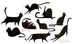 Black cats by Meg Park