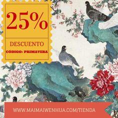 Disfruta de un DESCUENTO del 25% en arte chino en nuestra tienda online!  http://bit.ly/QZ5oUd  www.maimaiwenhua.com/tienda    #China #ArteChino #CulturaChina #ArteOriental #Asia