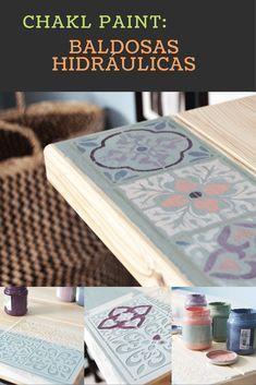 Decora tus muebles con un diseño de baldosas hidráulicas usando chalk paint y una plantilla de Pinturas La Pajarita Fácil, rápido y molón! Toda la info:http://inventandobaldosasamarillas.es/decorar-un-escritorio-de-madera-de-ikea/