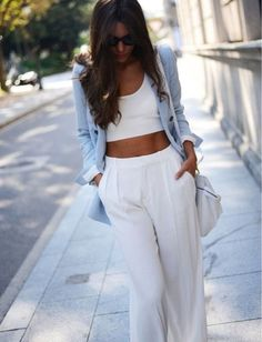 pants white style classy dressy class women jeans loose pants loose pastel summer perfect jacket blouse