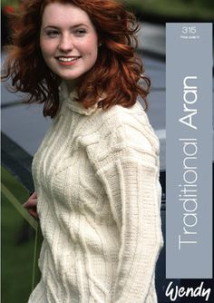 Traditional Worsted Book by Wendy Knitting Patterns, Turtle Neck, Traditional, Books, Fashion, Moda, Libros, Fashion Styles, Knitting Paterns