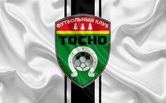 Download wallpapers FC Tosno, 4k, Russian football club, logo, emblem, Russian football championship, Premier League, football, Tosno, Russia, silk flag