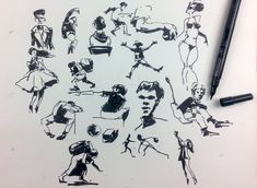 Gesture Drawing & People Sketching with a Brush Pen