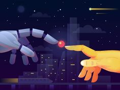 Hi guys! Want to share with you an illustration, dedicated to artificial intelligence. Some scientists believe that real artificial intelligence will be created in 2030, others think it will hap... #artificialintelligencedesign