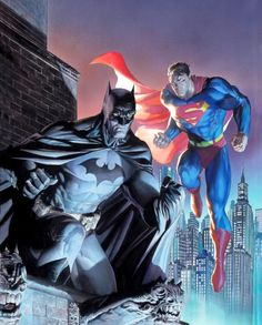 My Favorites Tangle The Batman and Jim Lee with Alex Ross combo - My favorite artist tackles the DC Universe and my favorite hero Batman. But to take it the next level legendary artist Alex Ross paints over the design work of Jim Lee. Jim Lee Batman, Batman Vs Superman, Batman Art, Batman Metal, Supergirl Superman, Alex Ross, Comic Book Artists, Comic Book Characters, Comic Books Art