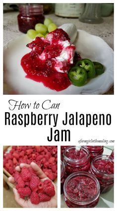 Raspberry jalapeno jam is for the individual who loves a marriage of sweet and spicy. Serve this delightful treat with good cheese and homemade crackers. Jalapeno Jam, Raspberry Jalapeno Jelly, Raspberry Jelly Recipe, Pepper Jelly Recipes, Homemade Jelly, Homemade Crackers, Raspberry Recipes, Jam And Jelly, Canning Recipes