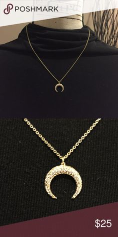 """Bauble Bar pave' necklace Gold pave' Bauble Bar Semelle necklace with adjustable length chain. 16"""" to 18"""". NWT Bauble Bar Jewelry Necklaces"""