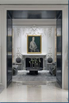 I picked an antique mantle very similar to this one for my house. Lol. Dior, Paris..designed by architect Peter Marino.