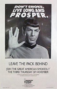 American Cancer Society campaign poster, Spock.