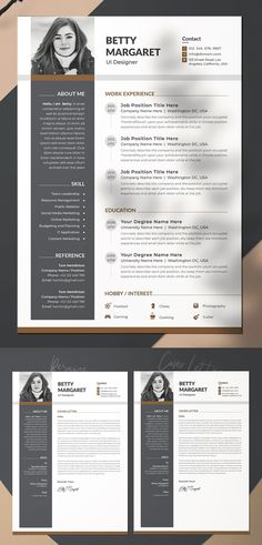 Attractive Resume / CV Word