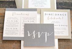 Ellie Pocketfold Wedding Invitation Suite with Twine by lvandy27