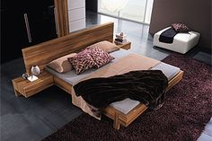 Modern Italian Gap Modern Platform Bed By Rossetto
