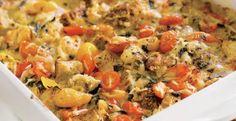 Tomato-Basil Bread Pudding | KitchenDaily.com