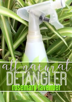 DIY Rosemary Lavender Hair Detangler