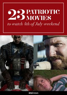 With America's birthday right around the corner, we know just how to get you in the patriotic mood. #Movies #4thofJuly