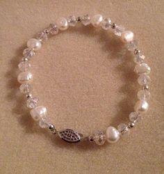 Freshwater pearl bracelet  by azCreationsByAlyssa on Etsy