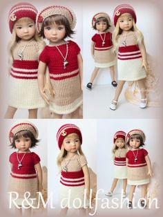 R&M DOLLFASHION - OOAK SEA LINE outfit 2 in 1 for LITTLE DARLING EFFNER 13  doll | eBay