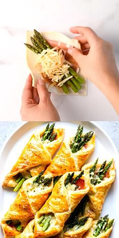 These Prosciutto Asparagus Puff Pastry Bundles are an easy and elegant appetizer or brunch idea! Perfect for Easter, Mother's Day or any other spring brunch! recipes and nutrition and drinks recipes recipes celebration diet recipes Vegetarian Recipes, Cooking Recipes, Healthy Recipes, Vegan Vegetarian, Cooking Crab, Cooking Games, Simple Recipes, Veggie Recipes, Seafood Recipes