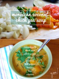 moroccan coconut chickpea soup // inspired to share