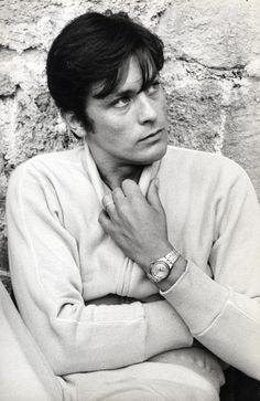 """Alain Delon, on the set of """"Diaboliquement vôtre"""", 1967 - photo by Michael Holtz.  Credits : Michael Holtz Estate / Photo 12 www.photo12.com"""