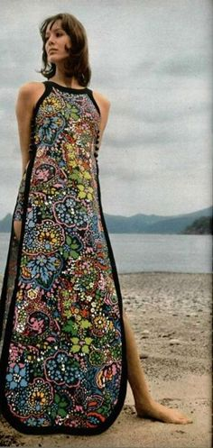 #1970s #vintage L'Officiel 1970, maxi dress - they mean tea cosey.