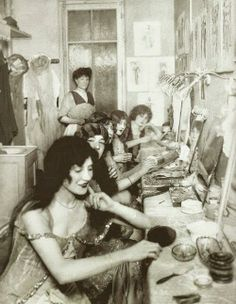 Dressing room in the Moulin Rouge, 1924.