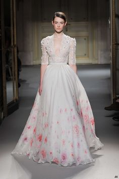 Georges Hobeika 2013 - this would be a great inspiration for a stunning wedding dress for muslim women - altered on the part of it' sleeves & chest :)