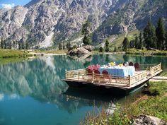 Beautiful view of Domial Lake in Skardu , Gilgit Baltistan - Pakistan Images & Photos Beautiful Places To Visit, How Beautiful, Wonderful Places, Beautiful World, Amazing Places, Beautiful Things, Pakistan Images, Hunza Valley, Pakistan Travel