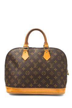 7c3a7ab2ec7 HauteLook   Vintage Handbags  Leather Alma Handbag. Louis Vuitton ...