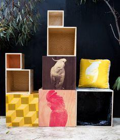 Bonnie and Neil Wooden Storage Cubes via the Design Files www.bonnieandneil.com.au