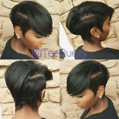 Short hairstyle with swoop....