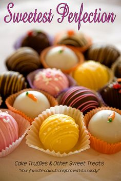 Cake truffles, in any flavor, are the perfect holiday treat or gift!