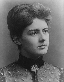 Frances Folsom Cleveland (1864 –1947) - the wife of Grover Cleveland 22nd and 24th President of the United States Twenty-one when her husband took office, she became and remains the youngest First Lady. President Cleveland first took office in March 1893. He proposed in a letter in August 1885. They announced the engagement just 5 days before they were married on June 2, 1886 at the White House.