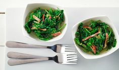 CanolaInfo | Braised Greens |Serve as a sublime side dish along with lean cuts of pork, roasted chicken or meaty fish dishes such as salmon or tuna steaks. Using canola oil helps keep saturated fat to a minimum in this heart-healthy recipe.