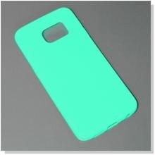 CUSTODIA SILICONE BACK CASE FLUO COVER GLITTER GEL ULTRA SOTTILE 0,6MM PER SAMSUNG GALAXY S6 EDGE G925F GREEN VERDE ACQUA - SU WWW.MAXYSHOPPOWER.COM