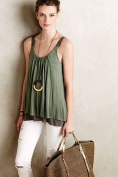 Layered Tibby Tank by Amadi #anthrofave #anthropologie
