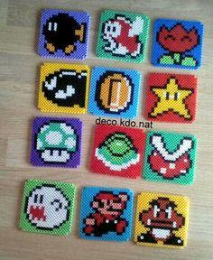 Super Mario coasters hama perler beads by deco.kdo.nat